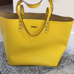 Rebecca Minkoff Yellow Stud Tote**Authentic**